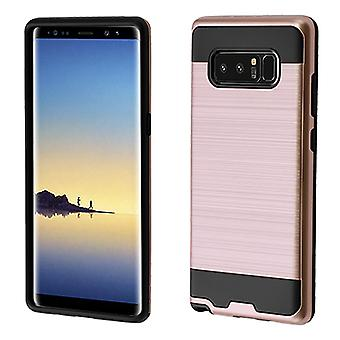 ASMYNA Rose Gold/Black Brushed Hybrid Case for Galaxy Note 8