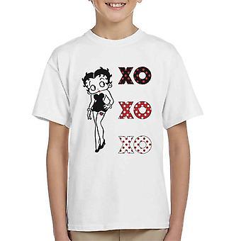 Betty Boop XOXOXO Pose Kid's T-Shirt