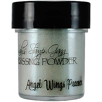 Lindy's Stamp Gang 2 Tone Embossing Powder .5Oz Jars Angel Wings Peacock Lsg Ep 52