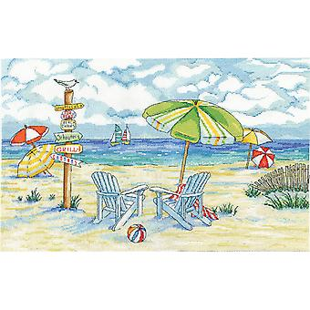 Beach Signs Counted Cross Stitch Kit-11
