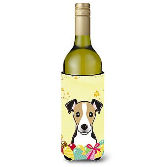 Jack Russell Terrier Easter Egg Hunt Wine Bottle Koozie Hugger BB1943LITERK