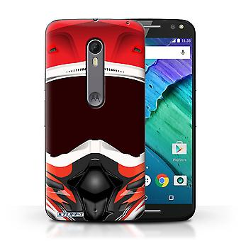 STUFF4 Case/Cover for Motorola Moto X Style/Motocross/Red/Motorcycle Helmet