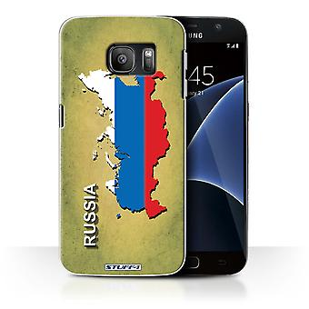 STUFF4 Case/Cover for Samsung Galaxy S7/G930/Russia/Russian/Flag Nations