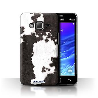STUFF4 Case/Cover for Samsung Z1/Z130/Cow/Black/Animal Fur Pattern