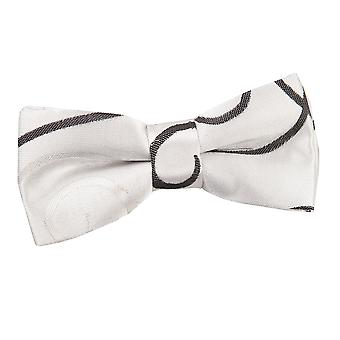 Boy's Black Scroll Pre-Tied Bow Tie