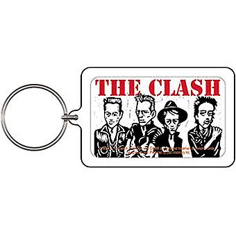 The Clash Caricature acrylic keyring (cv)