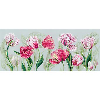 Spring Tulips Counted Cross Stitch Kit-27.5