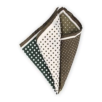 Baldessarini handkerchief Hanky Cavalier cloth silk green dotted