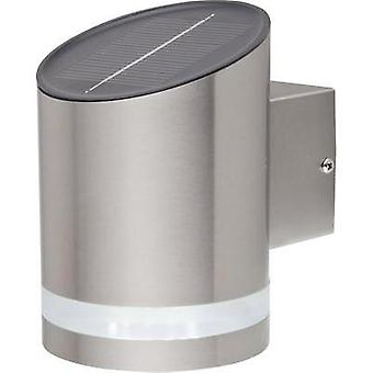 Solar outdoor wall light Cold white renkforce SOL-CIL721A Siero Stainless steel (brushed)