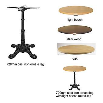 Ornal Dining Height Cast Iron Table With Ornate Leg Design
