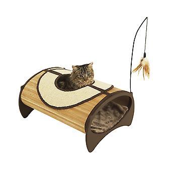 Jolly Moggy natürlichem Bambus Katze Pod