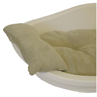 40 Winks Plastic Bed Pillow Faux Suede Sage Small