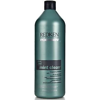 Redken For Men Mint Clean Shampoo 1000ml (Man , Hair Care , Shampoos)