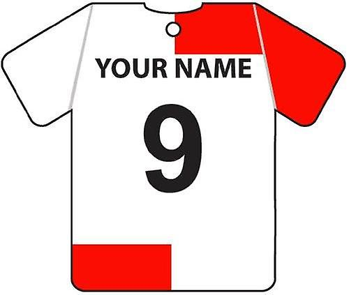 Personalised Clyde Football Shirt Car Air Freshener