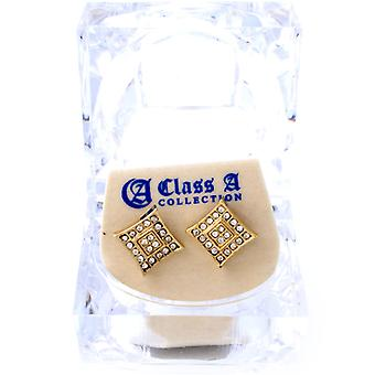 Iced out bling earrings box - PREMIUM gold