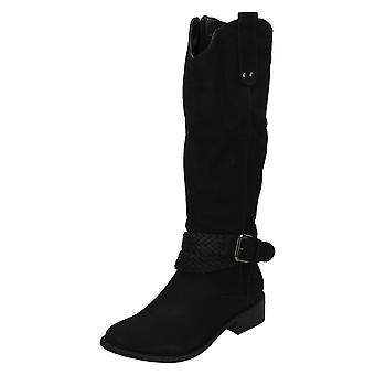 Ladies Coco High Leg Buckle Detail Boots L9340