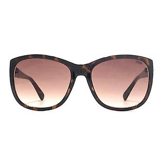 SUUNA Ruby Button Detail Sunglasses In Dark Tortoiseshell