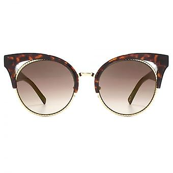 Marc Jacobs metallo Twist Clubmaster Occhiali da sole In avana scuro