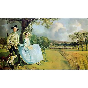 Thomas Gainsborough - Mr and Mrs Andrews 1748-9 Poster Print Giclee