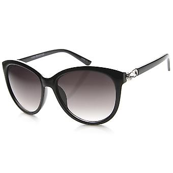 Womens Semi-Rimless Sunglasses With UV400 Protected Gradient Lens