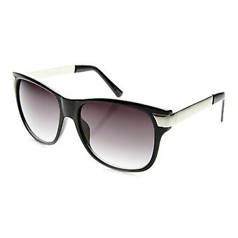 Premium High Fashion Metal Temple Mod Horn Rimmed Sunglasses