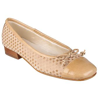 Riva Womens Andros Patent/Suede women's Ballerina