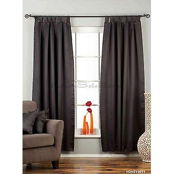 Black Tab Top 90% blackout Curtain / Drape / Panel - 50X84