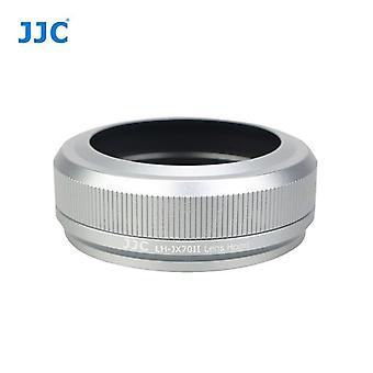 JJC LH-JX70II Silver - Lens Filter Adapter Ring and Lens Hood for Fujifilm Finepix X70 - Replaces Fujifilm LH-X70 - For Original Fuji Lens Cap