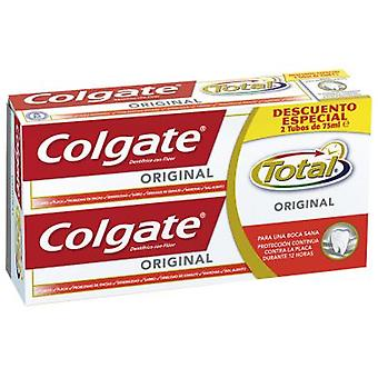Colgate Total oprindelige Pasta Dentifrica Pack 2 Pieces