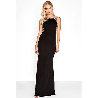Little Mistress svart Maxi Dress