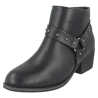 Ladies Spot On Ankle Boots F50688
