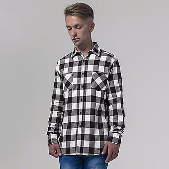Build Your Brand Mens Checked Flannel Shirt