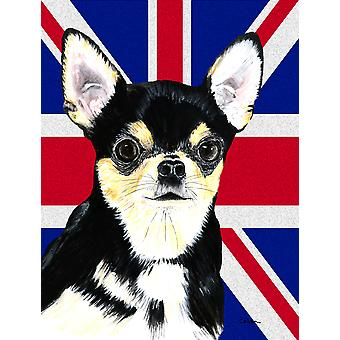 Chihuahua with English Union Jack British Flag Flag Garden Size