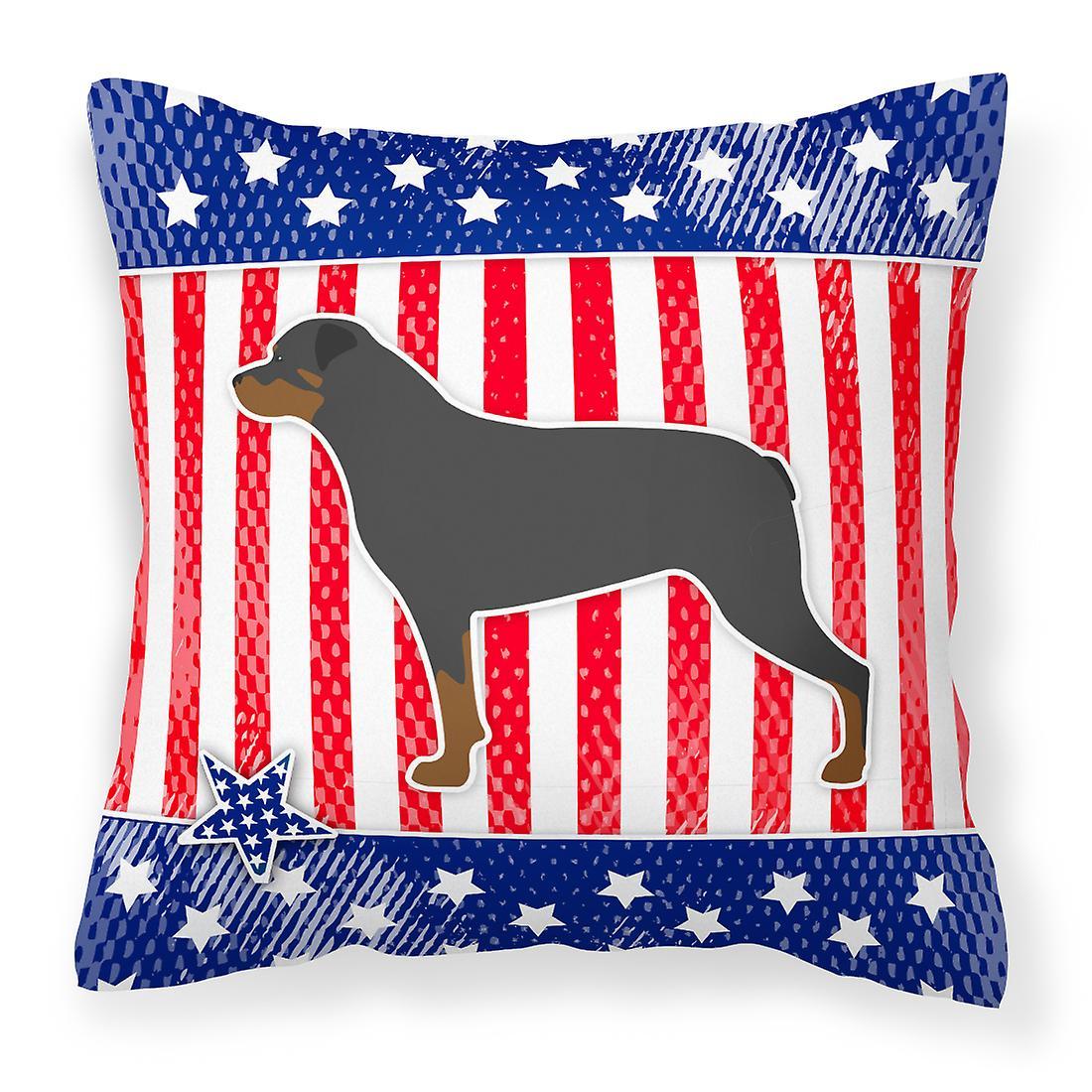 Patriotique De Usa Tissu Oreiller Décoratif Rottweiler 7gfy6bvY