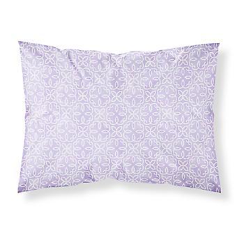 Gemoetric Kreise auf lila Aquarell Stoff Standard Kissenbezug