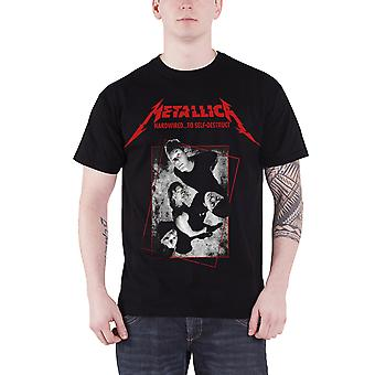 Metallica T Shirt Hardwired to Self Destruct Band Concrete Official Mens Black