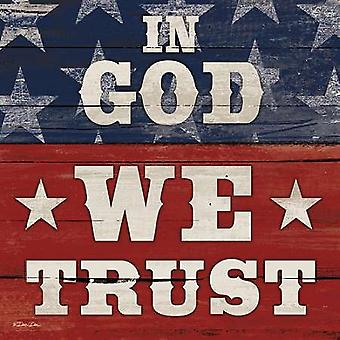 In God Trust We Poster Print by Dee Dee (12 x 12)