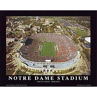 Notre Dame Stadium South Bend Indiana Poster Print von Mike Smith (10 x 8)
