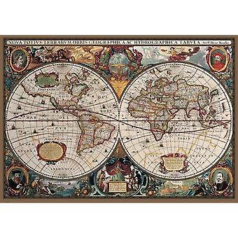 17th Centuy Old World Map  Poster Poster Print