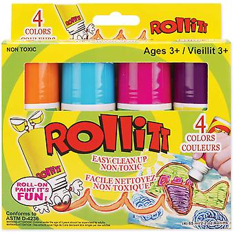 Rollitt Paint 2.2 Ounces 4 Pkg Bright Roll 4V
