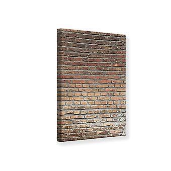 Leinwand drucken roten Backsteinmauer
