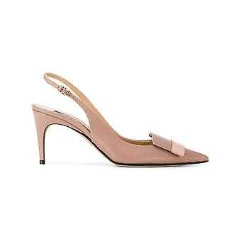 Sergio Rossi women's A80290MAGN055755 pink leather heel shoes