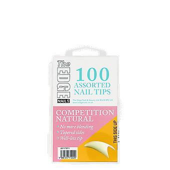 The Edge Nails Competition Natural Tips x 100 Assorted