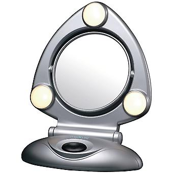 15 cm 2 x lighted folding mirror. ARM295
