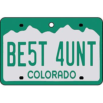 Colorado - Best Aunt License Plate Car Air Freshener