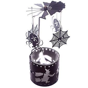 Halloween Spiders & Webs Tealight Spinner
