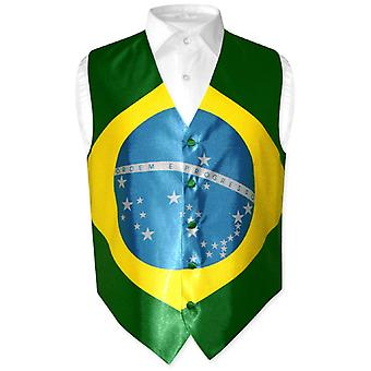 Men's Brazilian Flag Dress Vest for Suit or Tuxedo