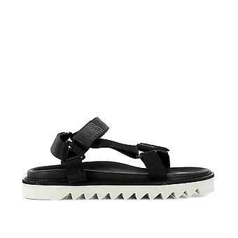 Golden Goose men's G30MS567A2 black cloth sandals