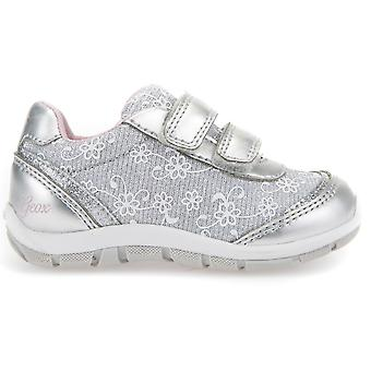Geox Girls Shaax B8233A Trainers Silver