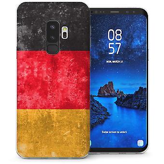 S9 Samsung Галактика плюс ретро Германии флаг гель ТПУ – черный